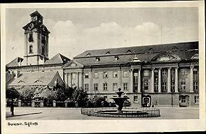 Ansichtskarte / Postkarte Sorau Ostbrandenburg, Schloss, Brunnen