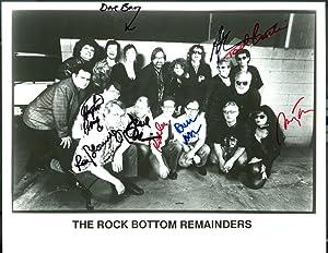 "Rock Bottom Remainders ( signed photograph, 8"": King, Stephen. Tan,"