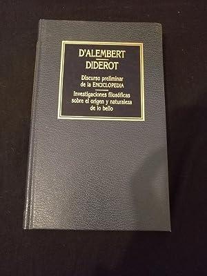 Discurso preliminar de la Enciclopedia: Diderot D'Alembert