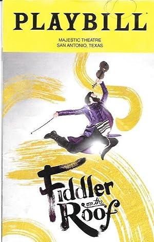 Playbill, Fiddler on the Roof, San Antonio,: Playbill