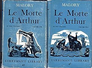 Le Morte D'Arthur (2 Volumes, complete) (Everyman;s: Malory, Thomas