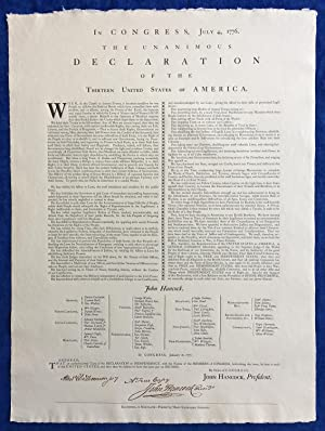 The Declaration of Independence   Replica of Mary Katharine Goddard s 1777 Broadside