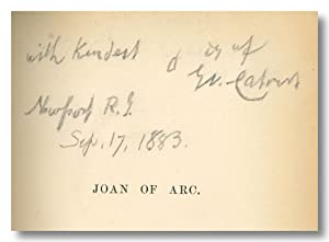 JOAN OF ARC: A NARRATIVE POEM IN FOUR BOOKS