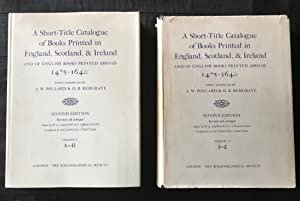 A Short-title Catalogue of Books Printed in England, Scotland, & Ireland and of English Books Pri...