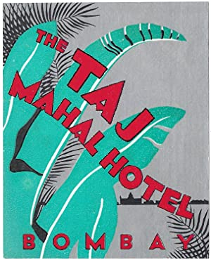 Original Vintage Luggage Label - The Taj Mahal Hotel, Bombay