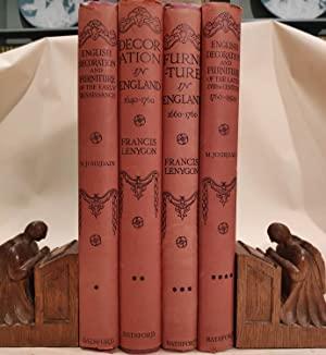 The Library of Decorative Art: English Decoration and Furniture. 4 volumes complete.