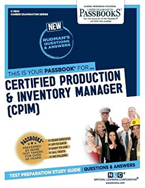Certified Production & Inventory Manager (CPIM) (Paperback: Corporation, National Learning