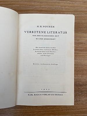 Verbotene Literatur von der klassischen Zeit bis: Houben, H.H.: