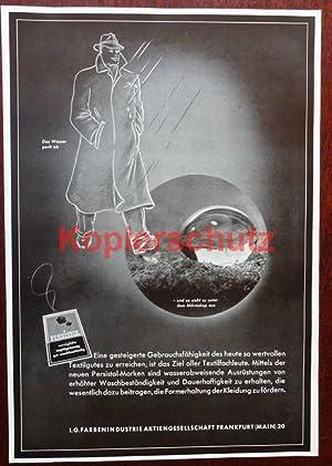 Werbeanzeige: I. G. Farbenindustrie: Persistol - 1941.: I. G. Farbenindustrie