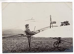 France Aviation Raoul Vendome in his Monoplane old Photo circa 1910: ANONYMOUS