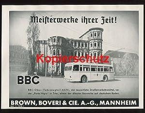 Bild des Verkäufers für Werbeanzeige: BBC-Obus (Fahrzeugteil MAN) - 1941. zum Verkauf von Antiquariat Ralf Rindle