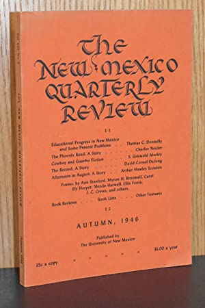 The New Mexico Quarterly Review; Autumn, 1946, Vol XVI, No. 3
