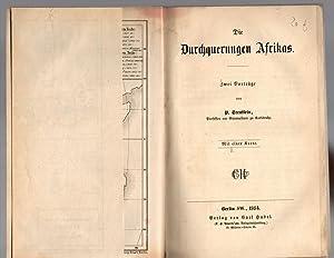 Die Durchquerungen Afrikas. Zwei Vorträge.: Treutlein, Peter
