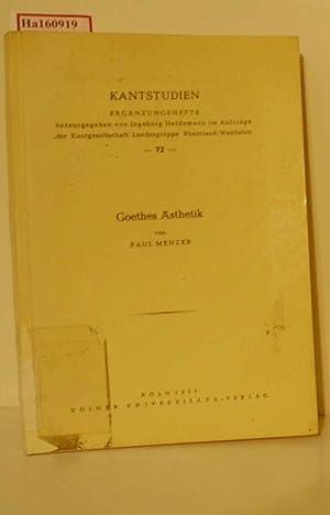 Bild des Verkäufers für Goethes Ästhetik. zum Verkauf von ralfs-buecherkiste