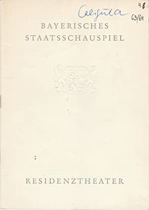 Programmheft Albert Camus CALIGULA Premiere 11. Januar: Bayerisches Staatsschauspiel, Helmut