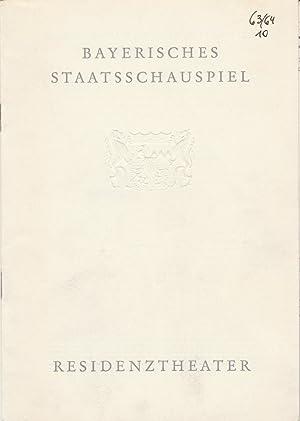Programmheft Franz Molnar LILIOM Premiere 2. Juli: Bayerisches Staatsschauspiel, Helmut