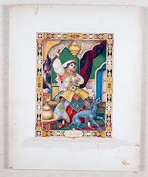 Arabian Nights Original Gouache: Szyk, Arthur