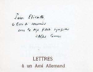 Lettres à un ami allemand. (EXEMPLAIRE NUMEROTE: CAMUS (Albert)