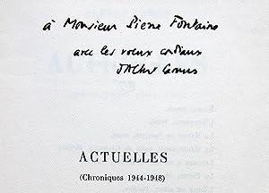 Actuelles. Chroniques 1944 - 1948 - Actuelles: CAMUS (Albert)