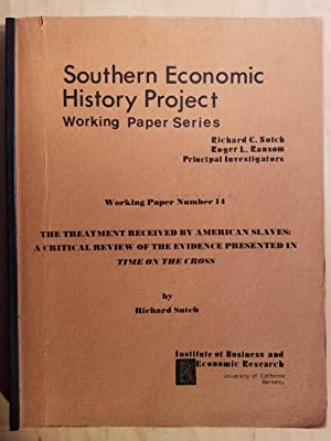 Southern Economic History Project, Working Paper Number: SUTCH, Richard
