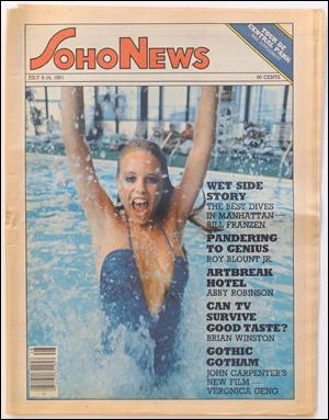 Seller image for SoHo News, Vol. 8, No. 41 (July 8-14, 1981) for sale by Specific Object / David Platzker