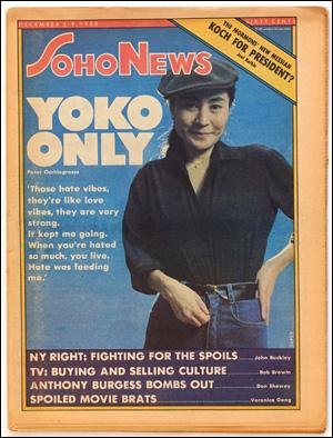 Seller image for SoHo News, Vol. 8, No. 9 (December 3-9, 1980) for sale by Specific Object / David Platzker