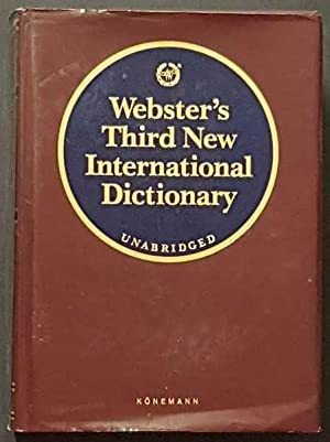 Seller image for Webster's Third New International Dictionary of the English Language Unabridged for sale by Goulds Book Arcade, Sydney