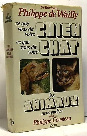 Ce que vous dit votre chien ce: De Wailly Philippe