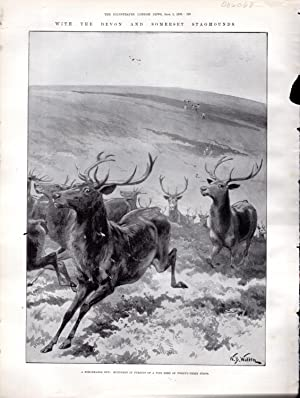 """PRINT: """"Over the Exmoor Heather After the: Pearse, H.H.S.) Illustrated"""