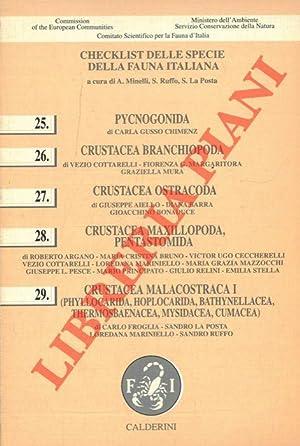 Checklist delle specie della fauna d'Italia. 25.: MINELLI A. -