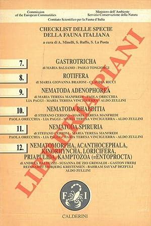Checklist delle specie della fauna d'Italia. 7.: MINELLI A. -