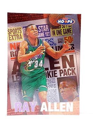 Imagen del vendedor de TRADING CARD BASKETBALL NBA HOOPS ROOKIE HEADLINER 4 OF 10 CB. RAY ALLEN. SkyBox, 1997 a la venta por Libros Fugitivos