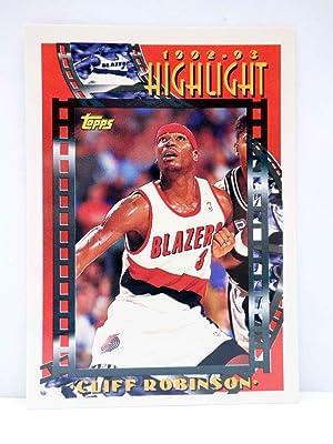 Imagen del vendedor de TRADING CARD NBA BASKETBALL 1992-93 HIGHLIGHT 5. CLIFF ROBINSON. Topps, 1993 a la venta por Libros Fugitivos