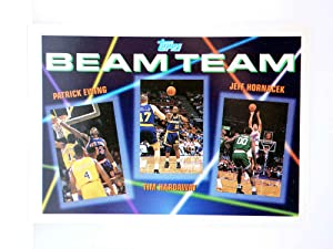 Imagen del vendedor de TRADING CARD NBA BASKETBALL BEAM TEAM 6 of 7. EWING / HARDAWAY / HORNACECK. Topps, 1993 a la venta por Libros Fugitivos