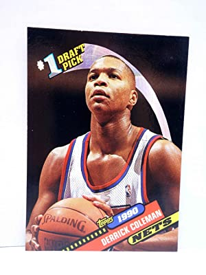 Imagen del vendedor de TRADING CARD NBA BASKETBAL 1 DRAFT PICK 10. 1990 DERRICK COLEMAN - NETS. Topps, 1993 a la venta por Libros Fugitivos