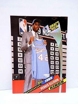 Imagen del vendedor de TRADING CARD NBA BASKETBAL 1 DRAFT PICK 9. 1989 PERVIS ELLISON - KINGS. Topps, 1993 a la venta por Libros Fugitivos
