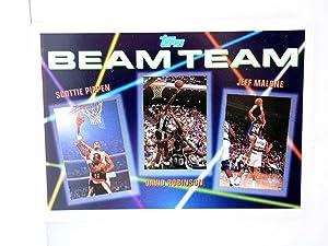 Imagen del vendedor de TRADING CARD NBA BASKETBALL BEAM TEAM 2 of 7. PIPPEN / ROBINSON / MALONE. Topps, 1993 a la venta por Libros Fugitivos