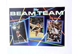 Imagen del vendedor de TRADING CARD NBA BASKETBALL BEAM TEAM 4 of 7. WILKINS / STOCKTON / MALONE. Topps, 1993 a la venta por Libros Fugitivos