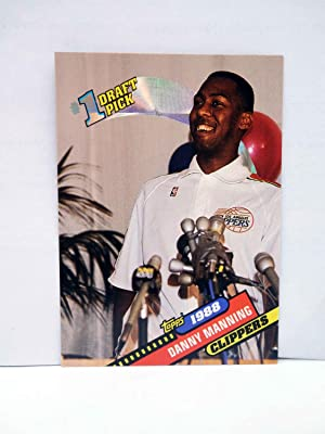 Imagen del vendedor de TRADING CARD NBA BASKETBAL 1 DRAFT PICK 8. 1988 DANNY MANNING - CLIPPERS. Topps, 1993 a la venta por Libros Fugitivos