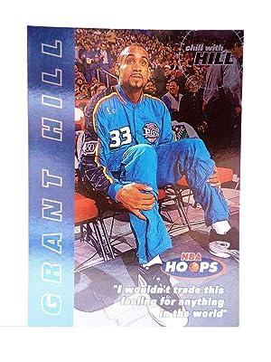 Imagen del vendedor de TRADING CARD BASKETBALL NBA HOOPS CHILL WITH GRANT HILL 10 OF 10. Skybox, 1997 a la venta por Libros Fugitivos