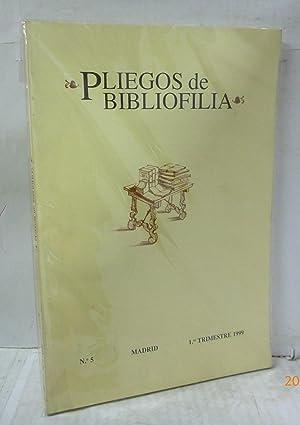 PLIEGOS DE BIBLIOFILIA Nº 5-1º TRIMESTRE