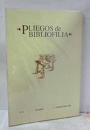 PLIEGOS DE BIBLIOFILIA Nº 6-2º TRIMESTRE