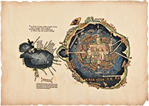 [HANDSOME FACSIMILE OF CORTÉS' FAMOUS MAP OF MEXICO CITY AND THE GULF OF MEXICO]