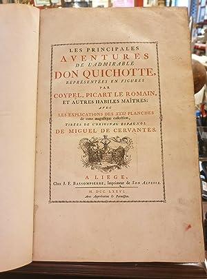 Image du vendeur pour Les principales Aventures de l admirable Don Quichotte représentées en figures par Coypel, Picart le Romain, et autres habiles Maitres. mis en vente par Libreria Antiquaria Dentis (ALAI - ILAB)