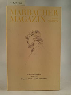 Seller image for Marbacher Magazin Heft 36/1985, Sonderheft, Berthold Auerbach 1812-1882 for sale by ANTIQUARIAT Franke BRUDDENBOOKS