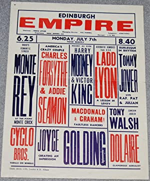 Edinburgh Empire variety show flyer