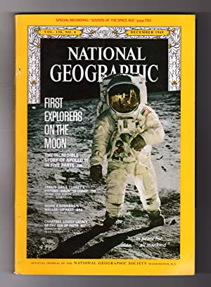 "National Geographic Magazine - December, 1969. Includes Record, ""Sounds of the Space Age"". First ..."