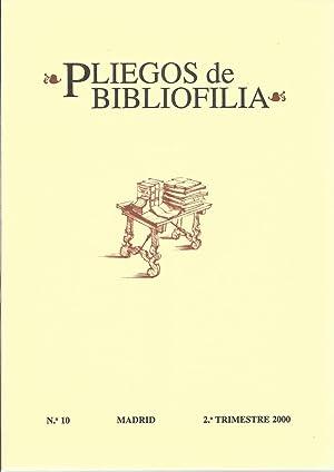 Pliegos de Bibliofilia nº 10 (2º trimestre