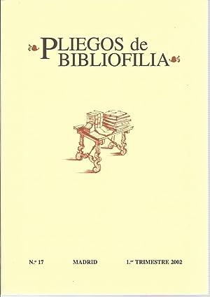 Pliegos de Bibliofilia nº 17 (1er trimestre