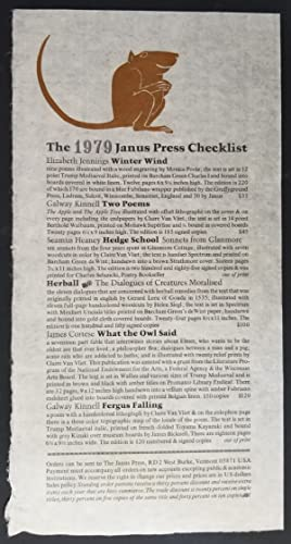 The 1979 Janus Press Checklist
